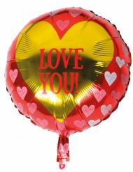 Balão alumínio Love you 45 cm