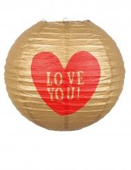 Lanterna de papel Love You