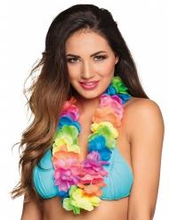 Colar Havaí colorido fluo luxo