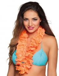 Colar Havaí cor de laranja luxo