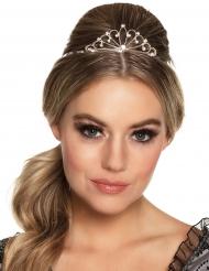 Mini coroa prateada mulher