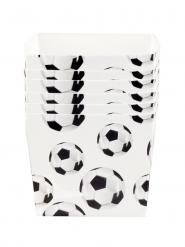 6 Tigelas de cartão aperitivo Futebol 40 cl