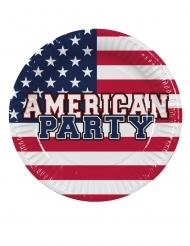 6 Pratos de cartão American Party