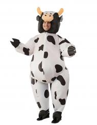 Disfarce insuflável vaca adulto