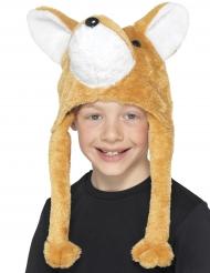 Gorro em pelúcia raposa criança