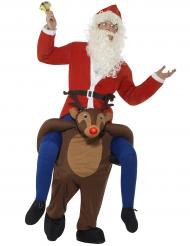 Disfarce Pai Natal as costas de uma rena adulto