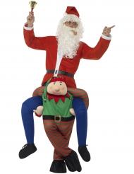 Disfarce homem as costas de um duende adulto Natal