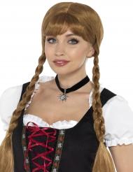 Colar choker preto bávaro mulher