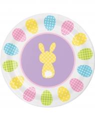 6 Pratos pequenos de cartão coelho