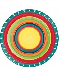 8 Pratos de cartão Mexicanos