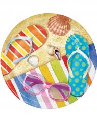 8 Pratos pequenos de cartão praia