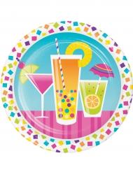 8 Pratos pequenos de cartão cocktail confetis