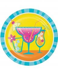 8 Pratos pequenos de cartão cocktail