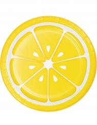8 Pratos de cartão limão