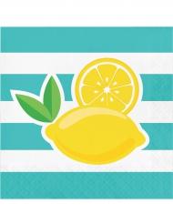 16 Guardanapos de papel limão
