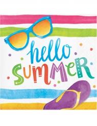 16 Guardanapos pequenos de papel Hello Summer