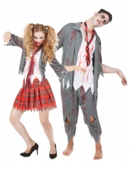Disfarce de casal Zombie Halloween