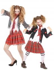 Disfarce estudante zombie Mãe e Filha Halloween