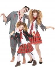 Disfarce de familia Zombie Halloween