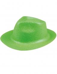 Chapéu brilhante verde fluo adulto