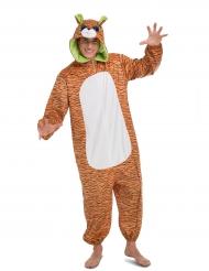 Disfarce macacão tigre adulto