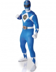 Disfarce adulto segunda pele Power Rangers™ azul