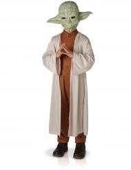 Disfarce Luxo Yoda Star Wars™ criança com máscara