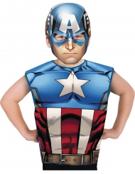 T-shirt e máscara Capitão América™ criança