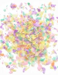 Mini saco de confetis de papel cores claras 20 gr