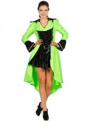 Casaco verde fluo luxo adulto