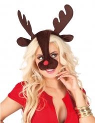 Bandolete e nariz de rena adulto Natal