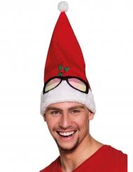 Gorro vermelho humorístico adulto Natal