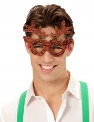 Óculos rena brilhantes adulto Natal