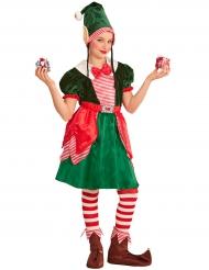 Disfarce duende assistente menina Natal