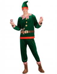 Disfarce assistente duende homem Natal