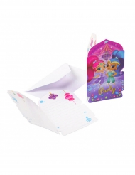 8 Convites com envelopes Shimmer & Shine™