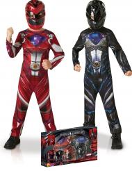 Pack disfarces Power Rangers™ vermelho e preto - Coffret