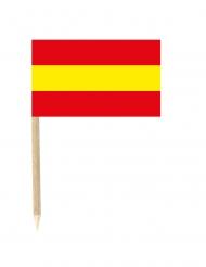 50 Palitos com bandeira espanhola 3 x 5 cm
