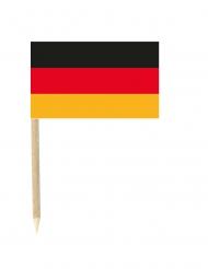 50 Palitos com bandeira alemã 3 x 5 cm