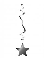 6 Decorações para pendurar estrela prateada