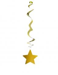 6 Decorações para pendurar estrela dourada