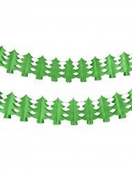Grinalda de papel árvore de Natal verde
