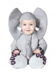 Disfarce elefante cinzento bebé