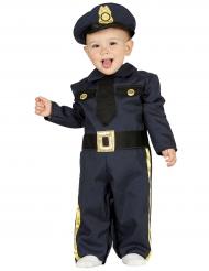 Disfarce polícia azul bebé