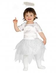 Disfarce pequeno anjo estrela bebé