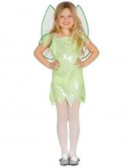 Disfarce fada verde brilhante menina