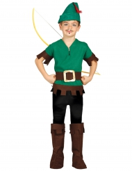 Disfarce ladrão dos bosques menino