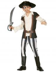 Disfarce pirata amigo listrado - menino