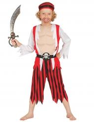 Disfarce pirata musculoso menino