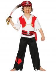 Disfarce capitão pirata menino